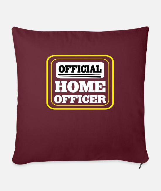 Office Pillow Cases - Home office officer - Pillowcase 17,3'' x 17,3'' (45 x 45 cm) burgundy