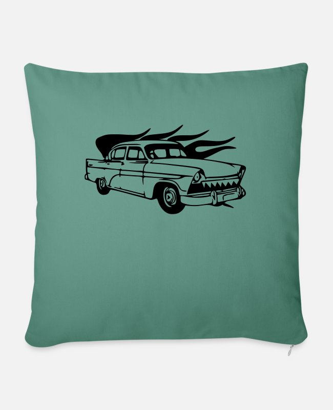Classic Car Pillow Cases - vintage car - Pillowcase 17,3'' x 17,3'' (45 x 45 cm) cypress green
