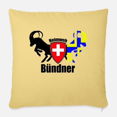 Homesickness homesick bündner - Pillowcase 17,3'' x 17,3'' (45 x 45 cm)