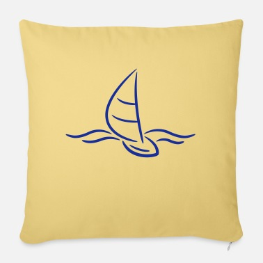 Boad Sport Sailing Boad And Waves Logo - Kussenhoes