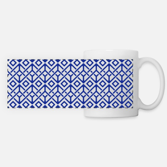 Art Mugs & Drinkware - Modern Pattern - Panoramic Mug white