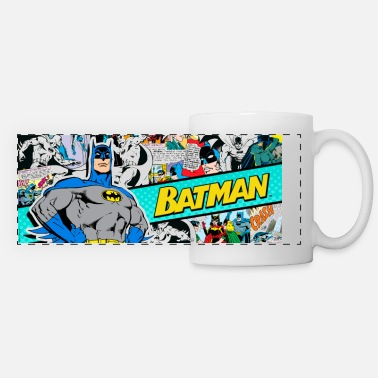 Comics Batman 'Comic' Tasse - Mug panoramique contrasté et blanc