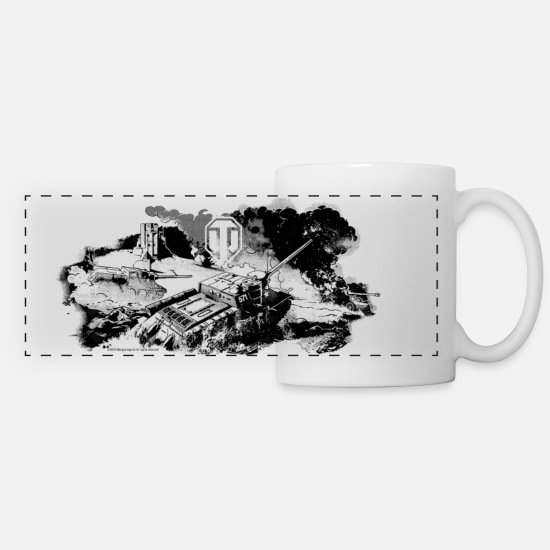 World Mugs & Drinkware - World of Tanks Battelfield Mono Panorama - Panoramic Mug white