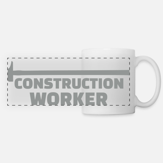 Construction Mugs & Drinkware - Construction worker - Panoramic Mug white