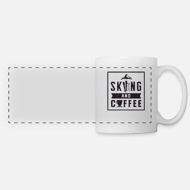 Winter Skiing coffee winter sports skis snow winter - Panoramic Mug