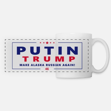 Campaign Putin Trump election campaign Logo Fun satire gift - Panoramic Mug