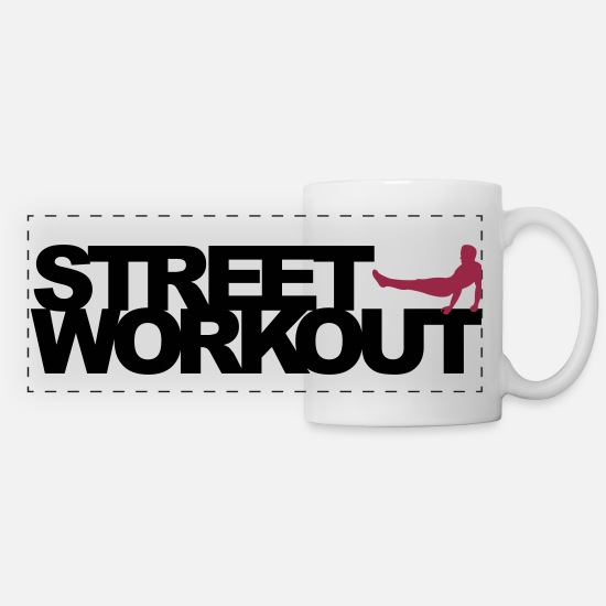 Workout Mugs et récipients - Street Workout - Mug panoramique blanc