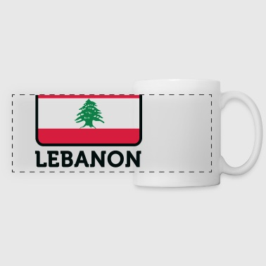 Nationell flagga Libanon - Panoramamugg