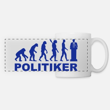 Evolution Politiker - Panoramatasse