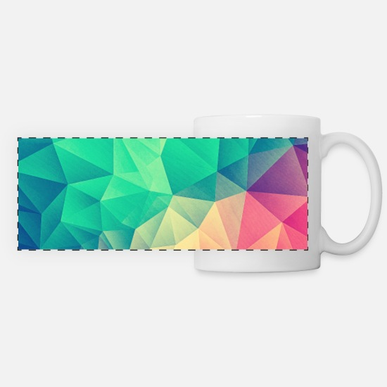 Cover Krus & tilbehør -  Abstract Triangles / Geometry Color - Phone Case - Panoramakrus hvid