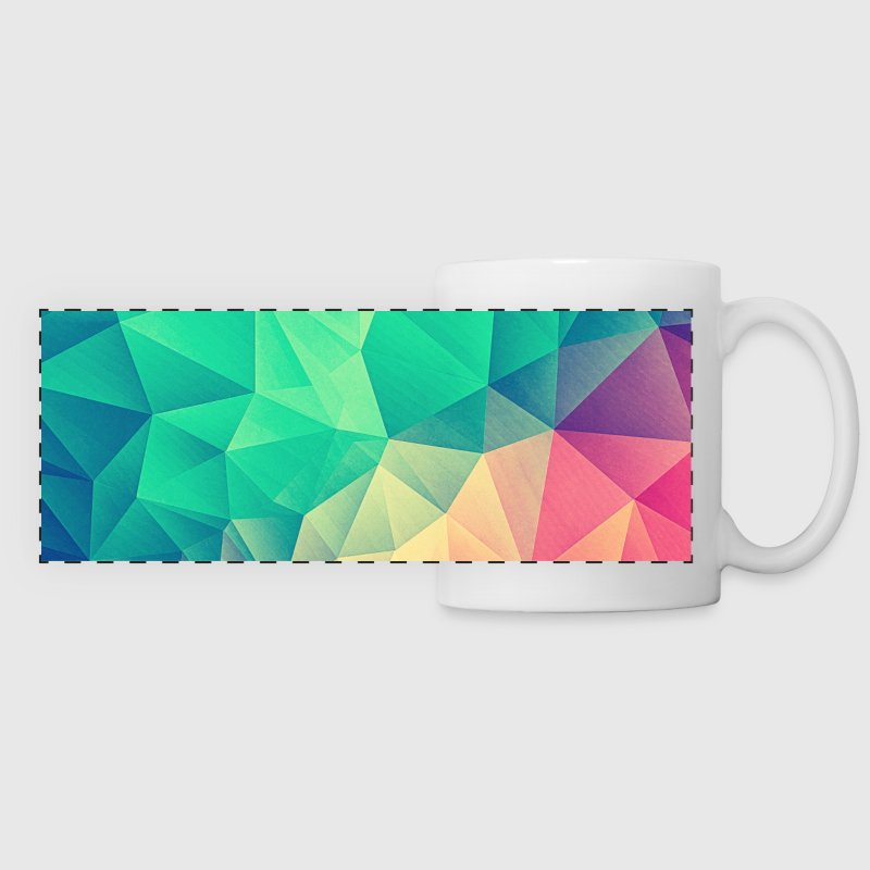 Abstract Triangles / Geometry Color - Phone Case - Taza panorámica