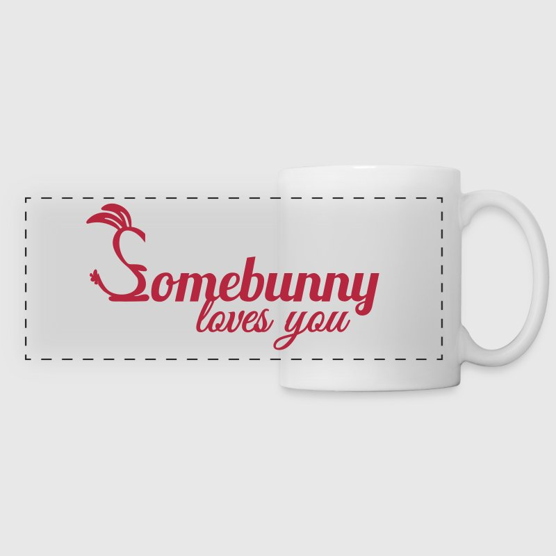 Somebunny loves you Kaninchen Hase Liebe - Panoramatasse