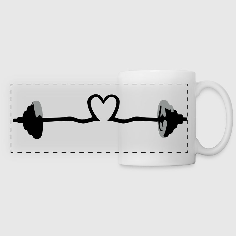 weightlifting - barbell and heart - Tazza con vista