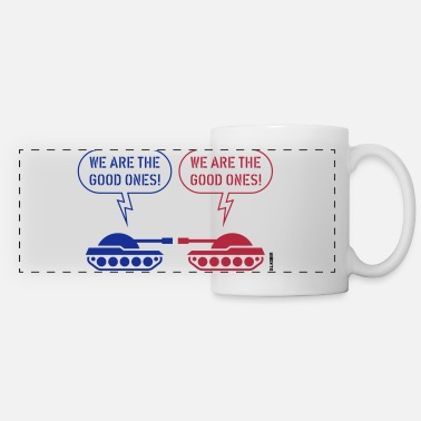 Caricature We are the good ones! (Tanks / War / Caricature) - Panoramic Mug