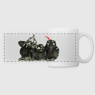 three young crows - Panoramic Mug