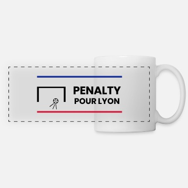 Penalty Kick Penalty for Lyon - Panoramic Mug