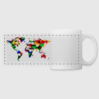 map of the world world map - Panoramic Mug