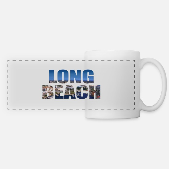 Longboard Mugs et récipients - LONG BEACH USA - Mug panoramique blanc