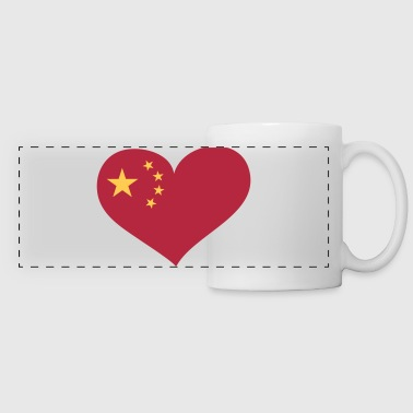 China Herz; Heart China - Mug panoramique contrasté et blanc