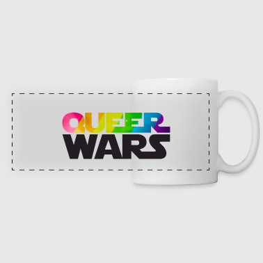 Queer Wars Rainbow LGBT Parody - Panoramic Mug