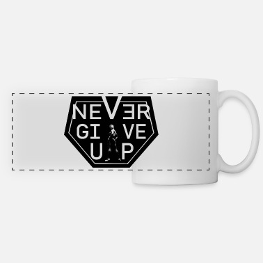 never give up woman - Mug panoramique