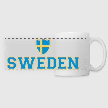 Sweden Shield - Mug panoramique contrasté et blanc
