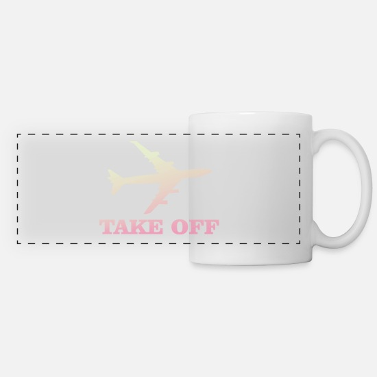 Takeaway Mugs & Drinkware - take off plane 5 - Panoramic Mug white