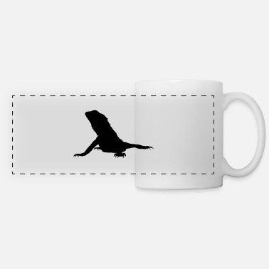 Bearded Dragon Gift Pogona black - Panoramic Mug