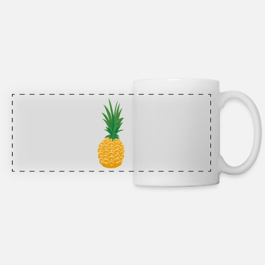 Painted Pineapple Paint painted design - Panoramic Mug