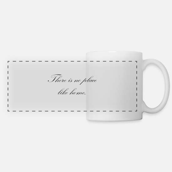 Love Mugs & Drinkware - There is no place like home - Panoramic Mug white