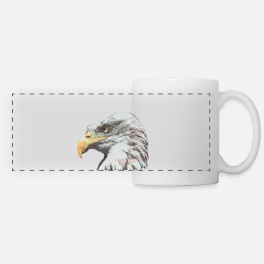 Eagle Bald eagle with American flag - Panoramic Mug