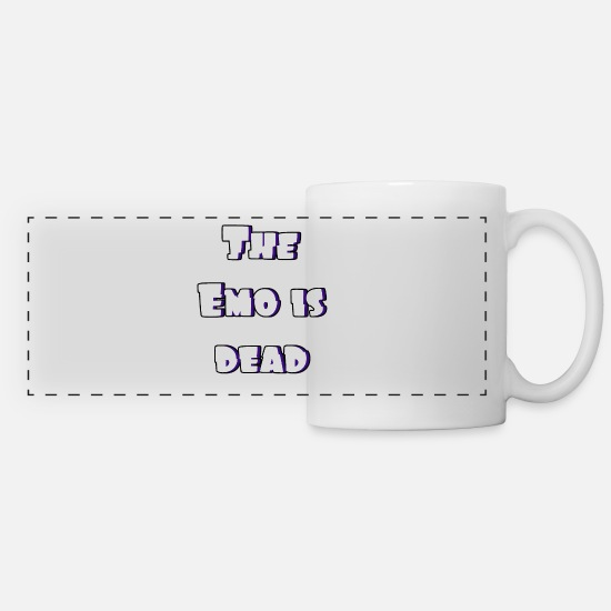 Emo Style Mugs & Drinkware - Dead Emo - Panoramic Mug white