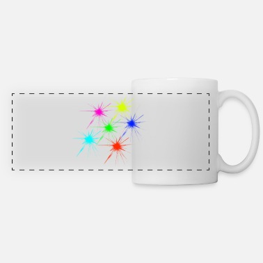 color blob colorful techno rave - Panoramic Mug