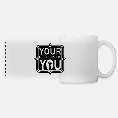 your only limit is you for men - Panoramic Mug