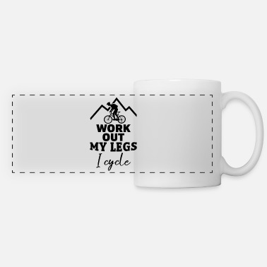 Wheel Work out my Legs i cycle Fahrrad Bicycle Geschenk - Panoramic Mug