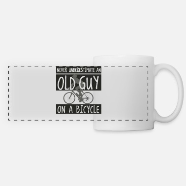 Cycling Never underestimating an old guy on a bicycle - Panoramic Mug