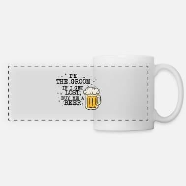 Bachelor Toast beer polterer bachelor party - Panoramic Mug