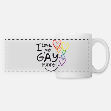 I LOVE MY GAY BUDDY - Taza panorámica