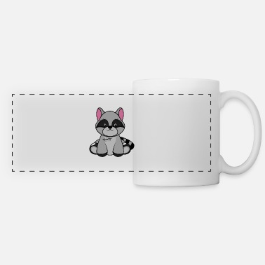 Toy Cuddly toy, raccoon, baby animals - Panoramic Mug