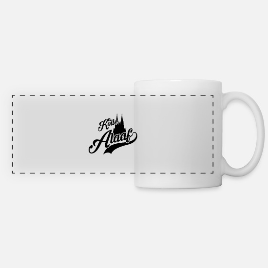 Gift Idea Mugs & Drinkware - Kölle Alaaf Cologne Cathedral Carnival Kölsch - Panoramic Mug white