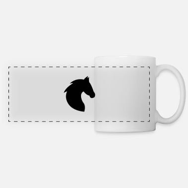 Horse Head Horse, horse head, horses, riding, head - Panoramic Mug