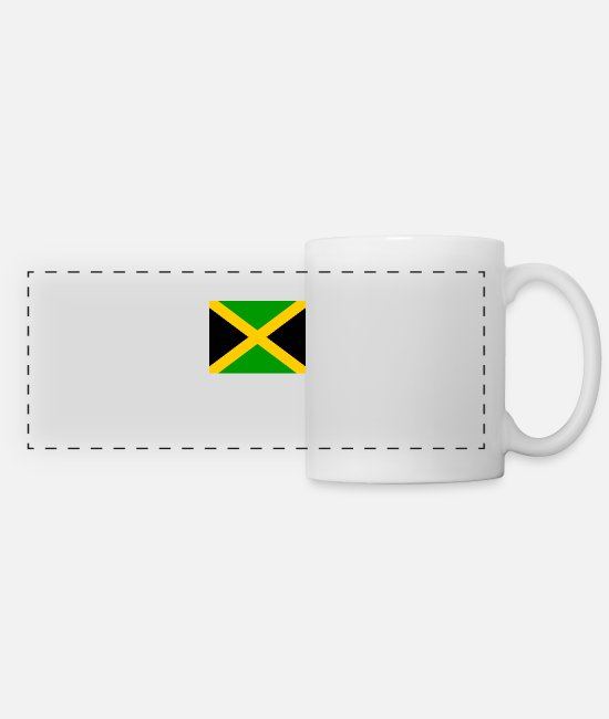 Country Sign Mugs & Drinkware - I jm flag png black 531901dfe61ce470a4f2953b7ad949 - Panoramic Mug white