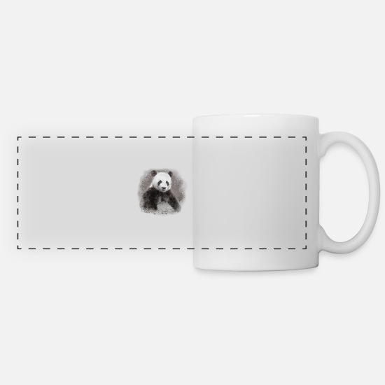 Panda Mugs & Drinkware - Panda - Panoramic Mug white
