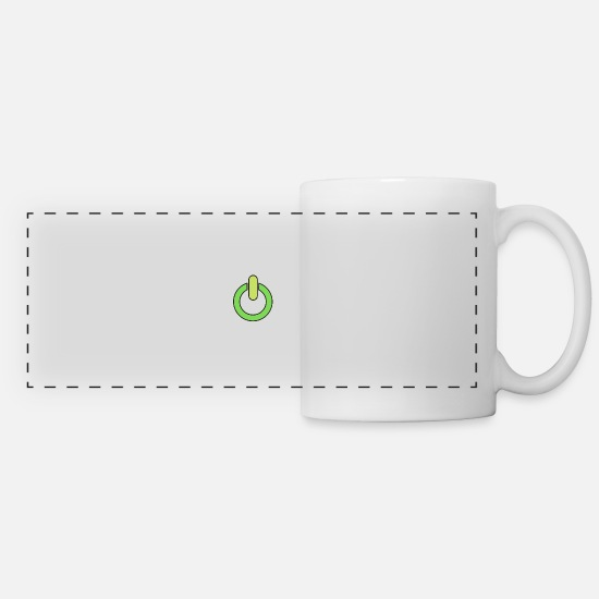 Green Mugs & Drinkware - Power on - Panoramic Mug white
