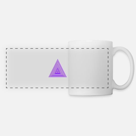 Lila Mugs et récipients - triangles - Mug panoramique blanc