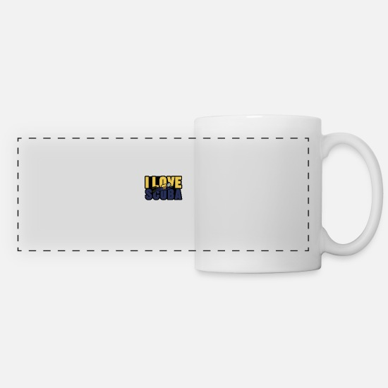 Diving Gift Mugs & Drinkware - I Love Scuba Shirt - Gift - Panoramic Mug white