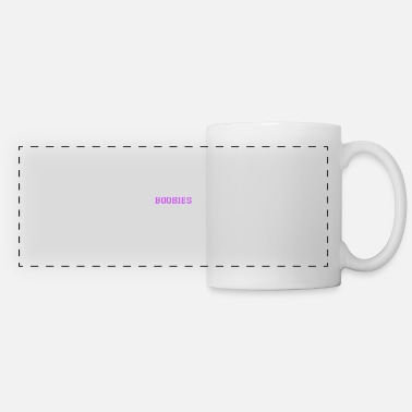 Awareness Check your boobies breast cancer breast cancer prevention - Panoramic Mug
