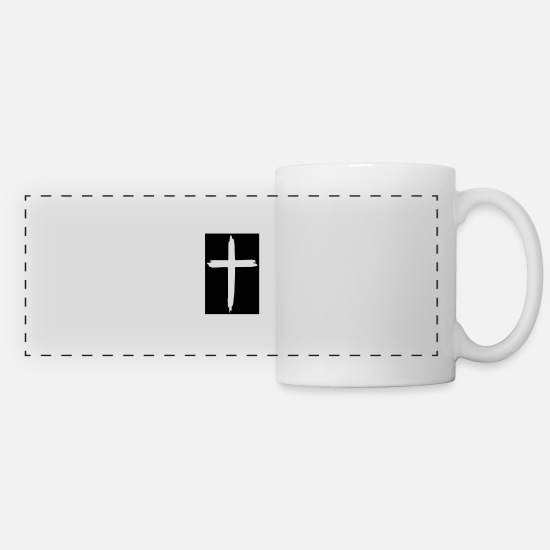 Religious Mugs & Drinkware - cross - Panoramic Mug white