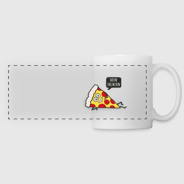 Funny Cartoon Pizza - Statement / Funny / Quote - Kubek panoramiczny