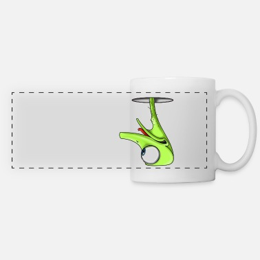 Kahlhammer avestruz gracioso - Funny Green Ostrich - Taza panorámica